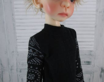 Long Sleeve Black Knit Shirt for Maurice, Layla, Talyssa by Kaye Wiggs and other MSD BJD