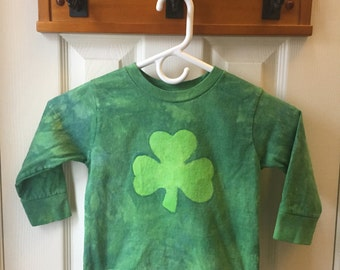 Kids St. Patrick's Day Shirt, Kids Shamrock Shirt, Boys Shamrock Shirt, Girls Shamrock Shirt, Long Sleeve Shamrock Shirt (3T)