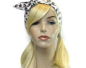 Patriotic Headband 4th of July Headband Stars and Stripes USA Headband Reversible Headband All American Girl Twist Headband Wire Headband