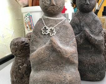 Jizo Statue with two Chibis
