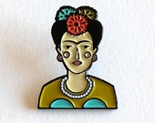 Frida Kahlo Enamel Pin, Frida Brooch, Frida enamel Pin
