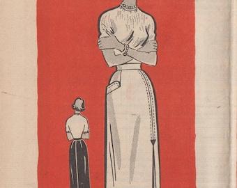 Vintage 50s Mail Order Sewing Pattern / Marian Martin 9082 / Skirt / Waist 28