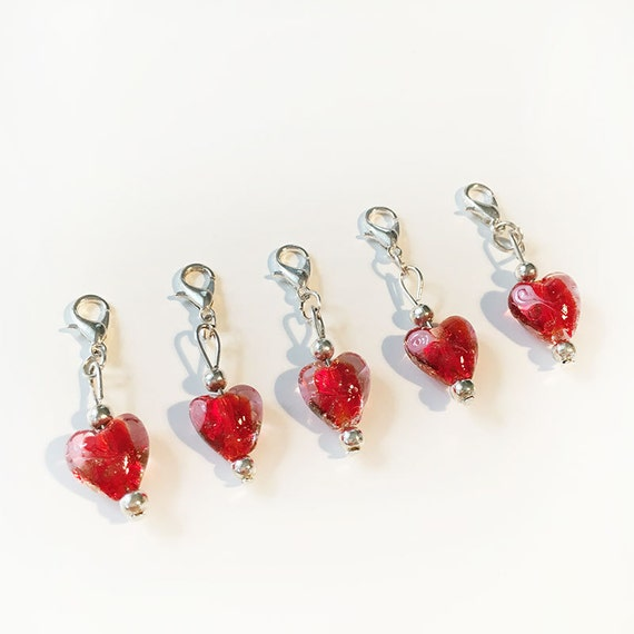 Red Heart Crochet Stitch Markers / Progress Markers - Set of 5 ...