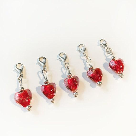 Crochet Stitch Markers Uk : Red Heart Crochet Stitch Markers / Progress Markers - Set of 5 ...