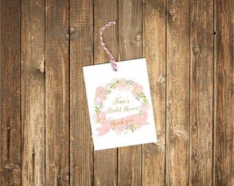 Thank You Wedding Favor Tags-Shower Tags-Bridal Shower Tags-Favor Tags-Thank You Tags