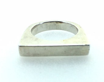 Sterling Silver  Solid Silver Geometric Ring