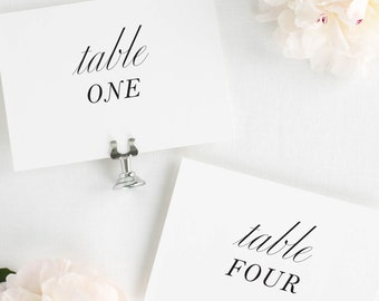 Modern Chic Table Numbers - 5x7""