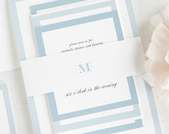 Upscale Monogram Wedding Invitation - Deposit