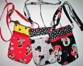Minnie Mouse Quilted Purse,Quilted Inside/Out,Handcrafted Mini Purse,Waist Belt Bag,Shoulder Cross Body Bag,Phone Pouch,Your Choice,RTS