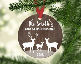 New Baby Gift Baby's First Christmas Ornament Baby Christmas Tree Ornament First Christmas Baby Ornament Christmas Ornaments for Baby Custom