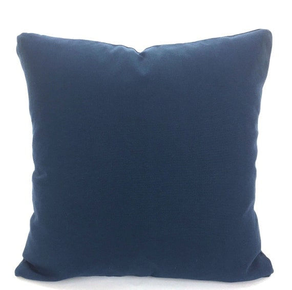 Solid Decorative Throw Pillows : Solid Navy Blue Pillow Covers Decorative Throw Pillows