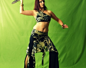 """Tribal Fusion costume, Belly Dance costume, two pieces costume, tribal fusion top, tribal fusion skirt - New collection 2017 -""""AFRO WARRIOR"""""""