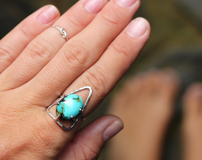 IN STOCK* Adventure Seeker Turquoise Triangle Ring