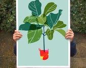 Fiddle Leaf Fig Tree 2 - Tropical leaf print / high quality fine art print