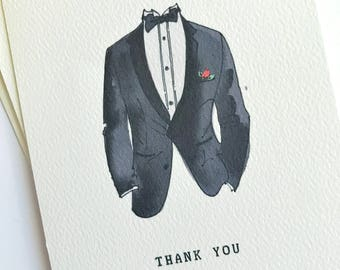 Thank you Groomsmen cards - Groomsman Thank You - Best Man Card - Thank You For Being My Groomsman - Wedding Thank You