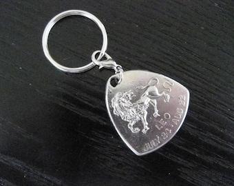 Leo Zodiac Astrological Key Ring