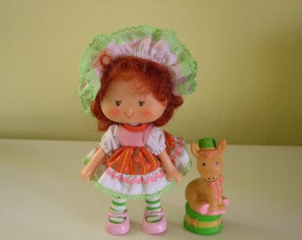 Vintage Strawberry Shortcake Cafe Ole Party Pleaser Doll with Pet Burrito the Burro