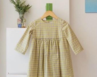 woodblock gathered dress