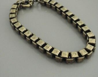 Vintage Bracelet - Brass Bracelet - Link Bracelet - Layered Bracelet - handmade jewelry