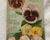 Vintage Seed Catalog Burpee Seeds for 1910 Color Illustrations
