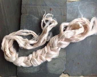 IVORY ROSE - Linen Flax fiber plant dyed