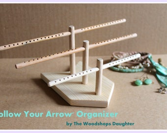Follow Your Arrow Earring Organizer, Earring Holder, Hair Tie Holder, Bracelet Holder, Ring Dish, Retail Fixture, Craft Show Display Rack