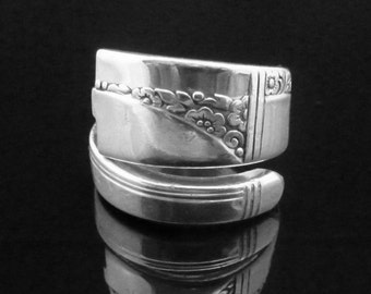 Spoon Ring, Caprice 1937, Silver Thumb Ring