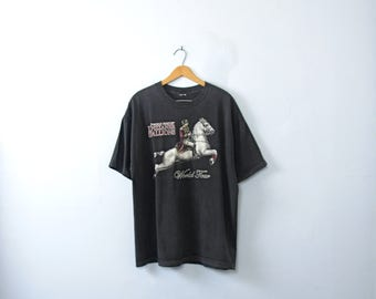 Vintage 90's graphic tee, equestrian shirt, Lipizzaner Stallions, size XL