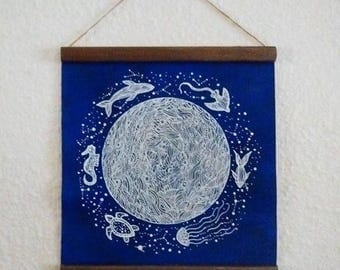 MADE TO ORDER Original Painting // Wall Hanging // Celestial Journey //Elise mahan