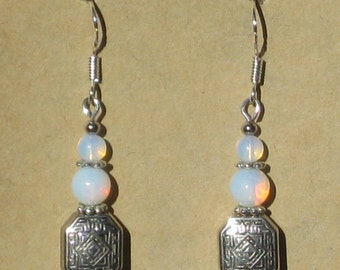 Earrings with Opalite Beads