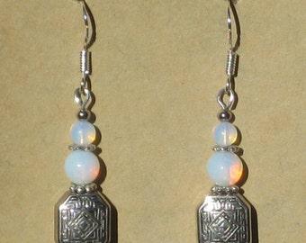 Earrings with Opalite Beads