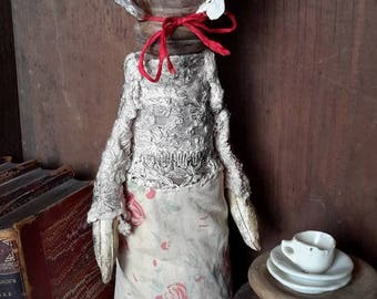 Prims Magazine early american primitive grungy colonial repurpose wood doll free shipping