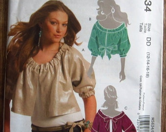 Misses Unlined Jackets in Three Styles and Belt Sizes 12 14 16 18 McCalls Pattern M5632 UNCUT