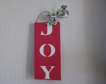 JOY - Wooden Christmas Sign - JOY Wooden Sign - Christmas Decoration
