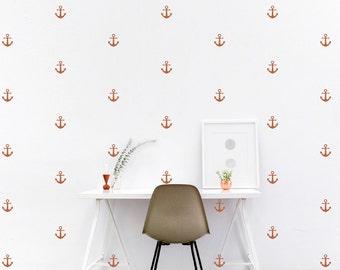 ANCHOR Wall Decal / anchor decal, nautical wall decal, nautical decal, anchor wall decor, anchor wall art, nautical nursery, anchor nursery