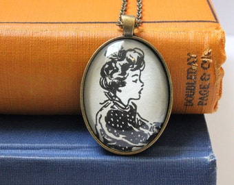 Betsy Tacy necklace - Maud Hart Lovelace - book page jewelry - literary teacher gift - literary gift for readers - book club gift idea