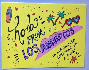 Hello from Los Angeles postcard L.A. Greeting