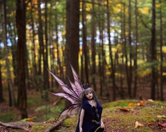 """Witch Faery, Faerie with Broom, Samhain Faerie, Gray-haired fairy, """"Luned"""", FREE shipping"""