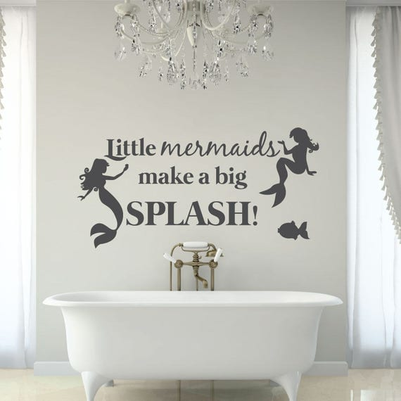 Mermaid Wall Quote Decal by luxeloft