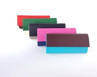 Multicolor cash envelope wallet, credit card wallet, minimalist wallet women, clutch wallet, vegan leather wallet, black wallet, grey wallet