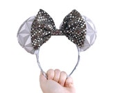Disney Epcot Spaceship Earth Mickey Mouse Ears Minnie Mouse Ears
