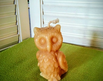 Vintage Beeswax Owl Candle