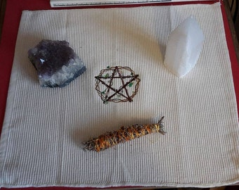UK, Wiccan, Pagan altar cloth, Pentacle of Venus, sacred space, empowerment, magickal, LAST ONE