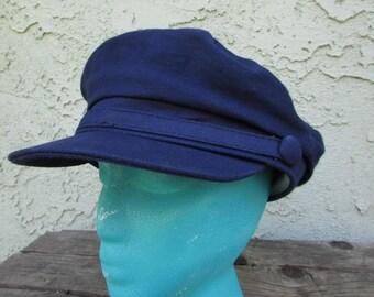 Navy blue fisherman hat