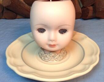 Lady Jane Grey Doll Head Candle