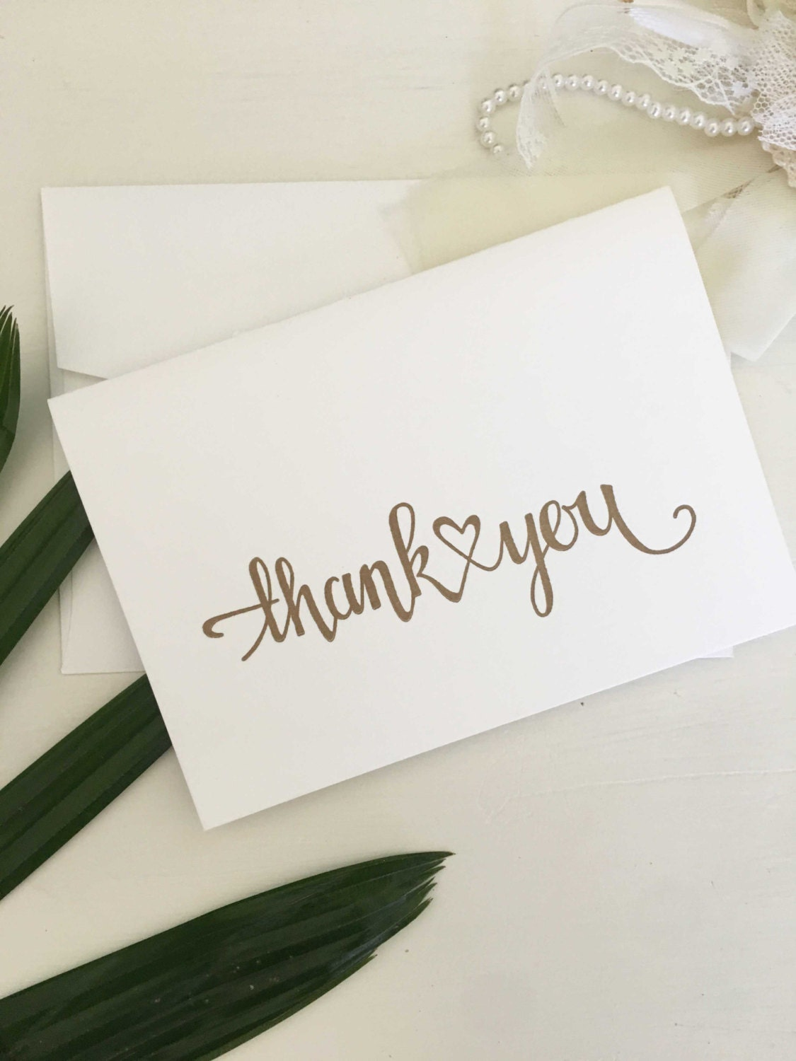 Wedding Thank You Card Calligraphy Thank You Cards Thank You