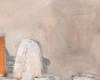Ghost Baguette and Mini Bundt Cake Still Life Painting