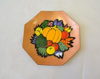 1960s Annemarie Davidson Enamel on Copper Harvest Dish