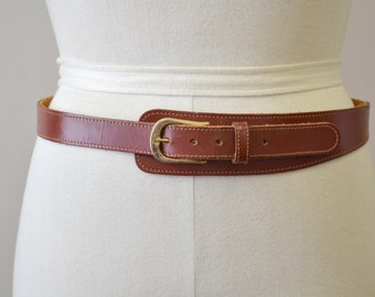 1970s Brown Leather Belt