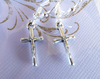 Mesiah Cross Earrings Tibetan Silver Cross Earrings